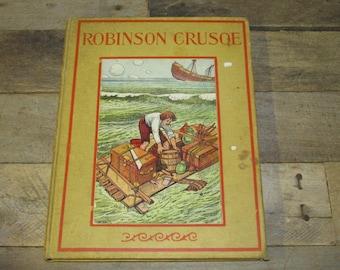 Antique The Adventures of Robinson Crusoe by Daniel Defoe