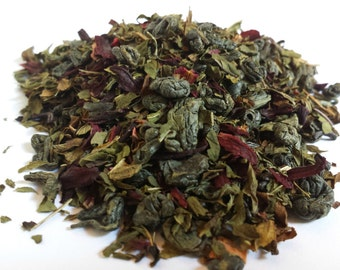 Peppermint, Hibiscus, and Green Tea Blend
