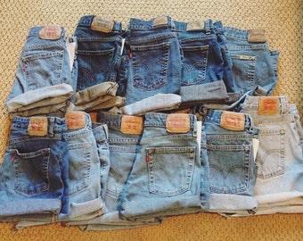 LEVI'S High Waisted Denim Jean Shorts Vintage LOWEST PRICE on Etsy