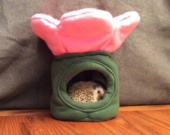 Flower Dome Hide, Pick Your Color, for Small Animals, Hedgehogs, Guinea Pigs, Rats etc