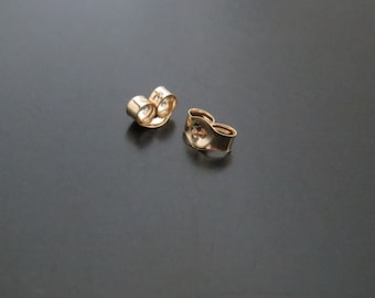 Tiny 14k Solid Gold Ear Nut(s) / Gold Earring Back(s) for Thin Post Stud Earrings (24 or 22 gauge posts), Sold Individually, Made in the USA