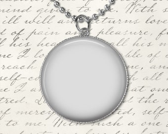 Jewelry Digital Photo Template for round 35 mm setting pendant with ball chain. No graphics tool needed. Ask me How.  1083