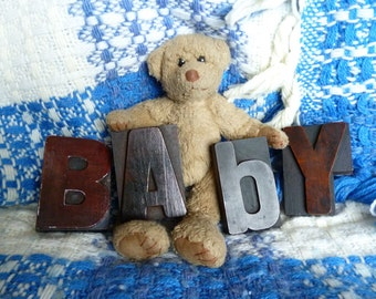 BABY, Baby Gift, Nursery Decor, Baby Shower, Unique Baby Gift, Nursery Wall Decor, Nursery Wall Art, Wooden Letters For Nursery, Nursery Art