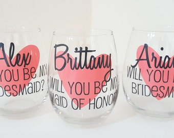 Will you be my bridesmaid Wine Glass, Asking Bridesmaid, Bridesmaid Proposal, My turn to pop the question