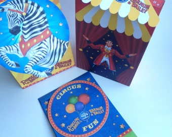 Circus (quantities of 4) themed Loot Bags for your Circus Party