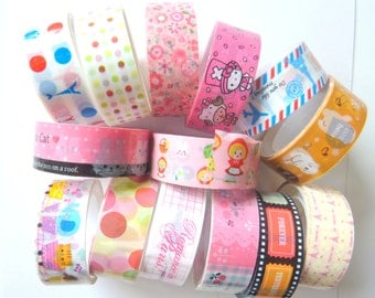 10 Lucky Dip Sellotapes Decorative Tape 15mm x 5m