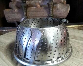 Vintage Vegetable Stainless Steel Steamer Basket