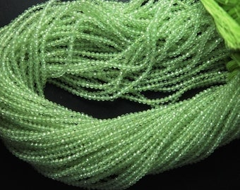 Super Amzing Micro Faceted, AAA Quality Finest Cut Natural Green Prenite Faceted Rondelles, 2.40mm