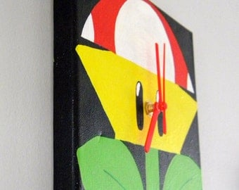 Hand Painted Canvas Clock