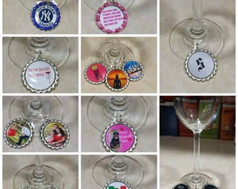 wine charms keychains personalized wine charms custom made keychains  gift under 10
