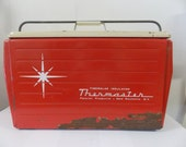 Vintage Thermaster Poloron Red Star Insulated Cooler