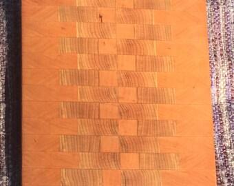 Cherry & Maple End Grain Cutting Board