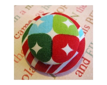 Unique Holiday jewelry Pin Brooch ~ bold and modern pin back button