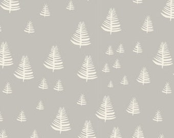 Crib/Toddler fitted bed sheet, trees in gray