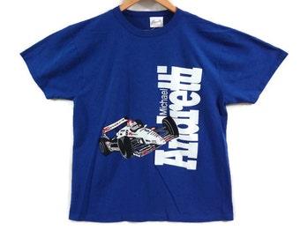 Michael Andretti Indy Racing Tshirt - XL - Vintage 90s Clothing - Kmart - Racing Shirt - Newman Hass - Vintage Tees - Mario Andretti -