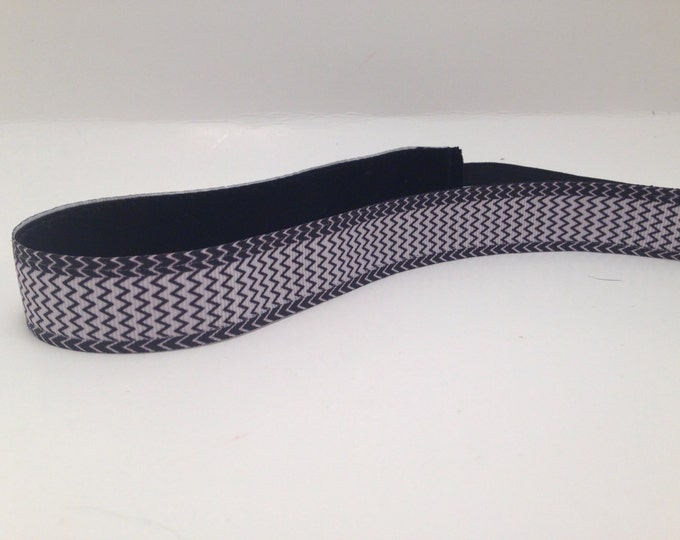 Nonslip Headband B&W Chevron