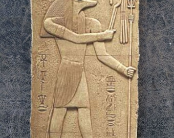 History Egyptian Anubis Sculptural wall relief  www.Neo-Mfg.com 11""
