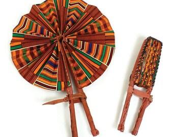African Kente Print Fan