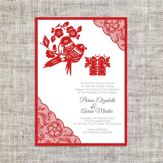 Diy printable editable chinese wedding invitation card for Chinese wedding invitations etsy