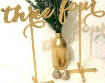 SALE 10 Freestanding Table numbers. Numbers for tables. Numbers. Gold numbers. Wedding table numbers.