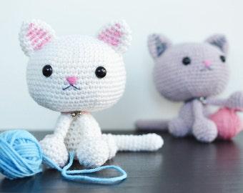Cat Crochet Pattern. Kallie The Kitty Crochet Pattern. Kitty Amigurumi Crochet Pattern. English/Dutch Downloadable PDF Crochet Pattern.