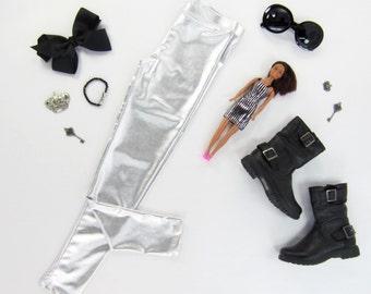 Girls Metallic Silver Leggings, Silver Leggings, Platinum Leggings, Silver Pants - Sizes 2/3, 3/4, 4/5, 6/6x, 7/8, 10/12 Ready to Ship