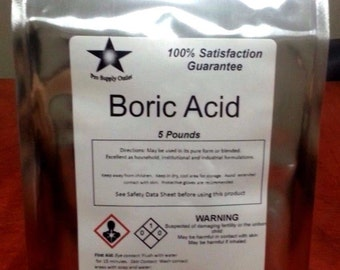 Boric Acid (Orthoboric Acid, Boracic Acid) Choose Your Size