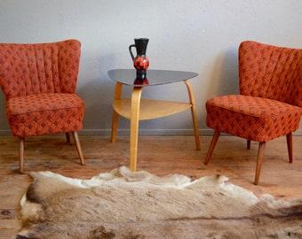 Pair of armchairs cocktail vintage retro 60s pop rockabilly legs compass midcentury English design armchairs scandinavian style