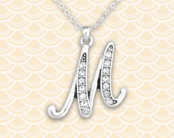 M Initial Necklace - 54307