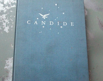 Vintage Book Candide / by Voltaire / Printed in 1929 / Bright Cover / Silver Cover Details