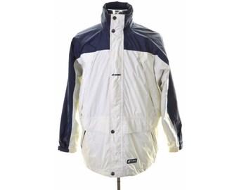 K-Way Mens Windbreaker Jacket Medium White Polyamide Polyester