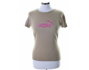 Puma Womens T-Shirt Size 12 Medium Green