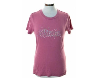 Puma Womens T-Shirt Size 16 Large Pink