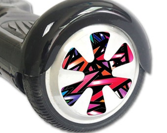 Skin Decal Wrap for Hoverboard Balance Board Scooter Wheels Color Bomb