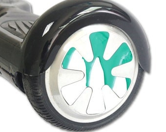 Skin Decal Wrap for Hoverboard Balance Board Scooter Wheels Teal Drips