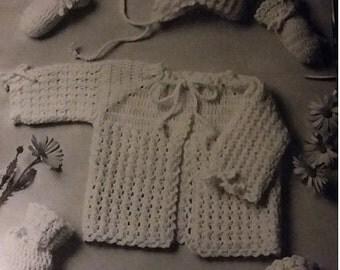 Vintage Pattern for Puff Stitch Baby Set