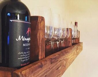 Rustic Reclaimed Wood Wine Rack