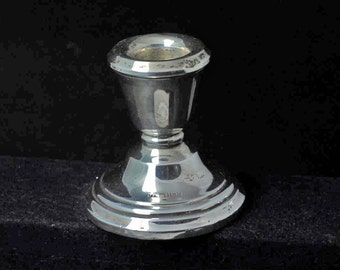 Small Sterling Silver Hallmarked Candlestick