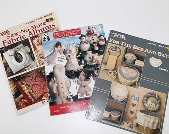 No Sew and Fabric Albums Bed and Bath and Fleece Patterns, PAT163