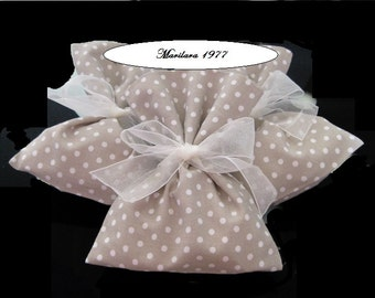Shabby chic wedding favor boxes bags bag baptism promise wedding