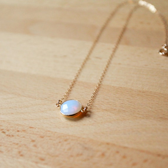 Opal Pendant, October Birthstone Necklace, Dainty Necklace Opal, Dainty Opal Necklace, Tiny Opal, Opal Jewelry, October, Opal Jewellery