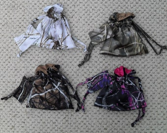 String Bags with extra pouch Looking for Brides Maid gifts or to match your favorite Camo colors? Available in 19 camo colors.