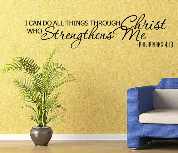 Religious Bible Verse Vinyl Wall Quote Decal Home Decor Wall
