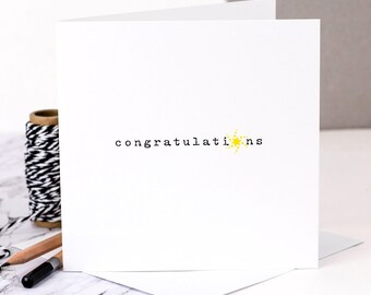 Well Done Card; 'Congratulations'; Congrats Card; GC368