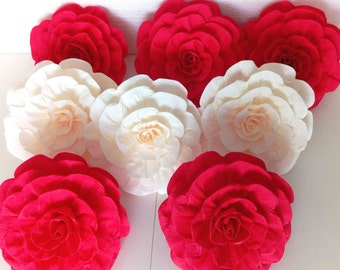 10 giant crepe paper flowers giant red creme elena avalor bridal baby shower backdrop princess party decor Wall arch flower wedding marsala