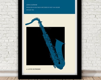 John Coltrane - A Love Supreme - Impulse! 1964 poster