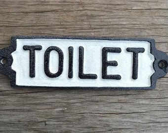 Cast iron vintage style TOILET door sign plaque railway station door sign PP2