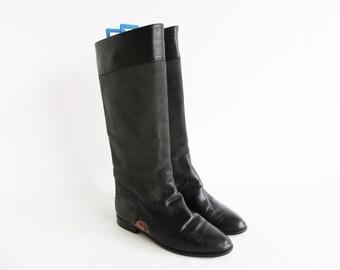 80s • Vintage • Leather Boots • Christmas Boots • Black Leather Boots • Boots • Slouchy Boots • Leather Riding Boots • EU 39 • US 7.5 • UK 5