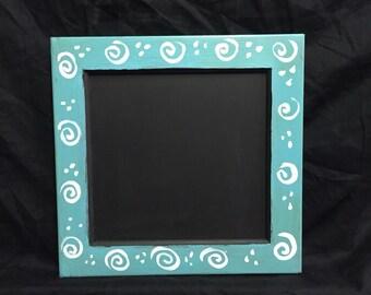 hand painted chalkboard  - framed chalkboard  - rustic chalkboard - chalkboard - chalk board -  farm house chalkboard