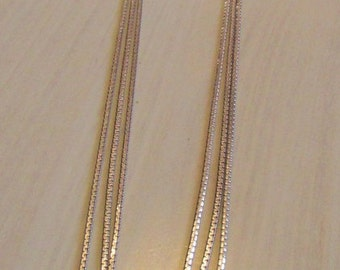 Three Strand Chain Waterfall Necklace